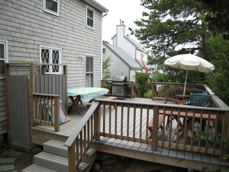 New Silver Beach rental house deck