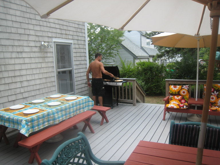 New Silver Beach rental house grill
